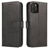 Magnet Case elegant bookcase type case with kickstand for LG Velvet 5G black