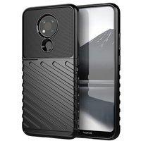 Thunder Case Flexible Tough Rugged Cover TPU Case for Nokia 3.4 black