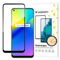 Wozinsky Tempered Glass Full Glue Super Tough Screen Protector Full Coveraged with Frame Case Friendly for Realme 7i black