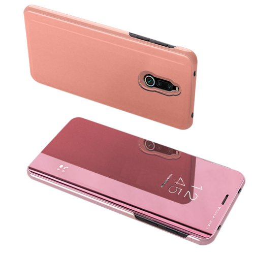 Clear View Case cover for Xiaomi Redmi 8 pink