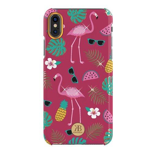 Kingxbar Blossom case decorated with original Swarovski crystals iPhone XS Max pink