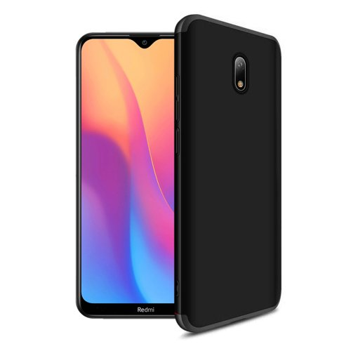 GKK 360 Protection Case Front and Back Case Full Body Cover Xiaomi Redmi 8A black