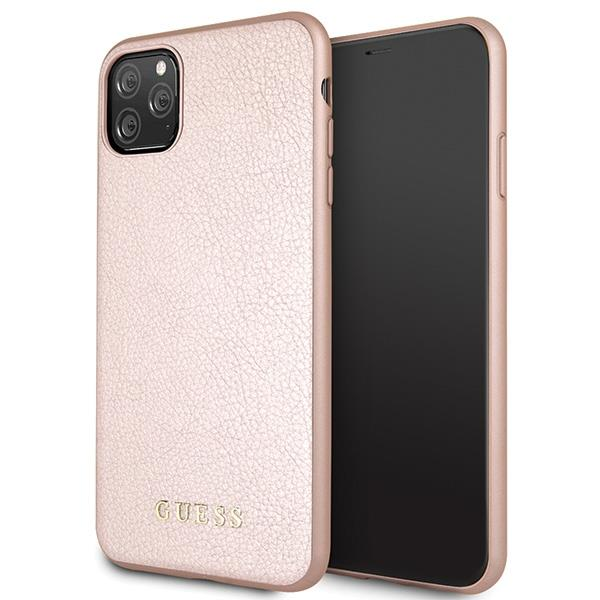 Guess GUHCN65IGLRG iPhone 11 Pro Max różowo-złoty/rose gold hard case Iridescent