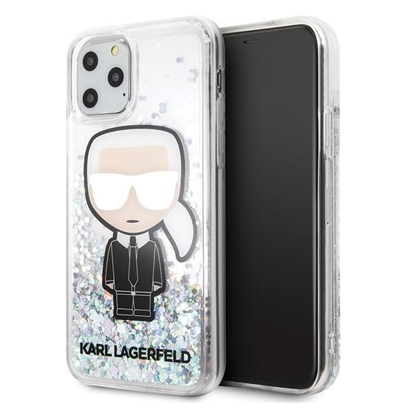 Karl Lagerfeld KLHCN58LGIRKL iPhone 11 Pro hardcase Glitter Iridescent Ikonik