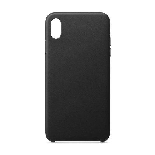 ECO Leather Öko-Leder case schutzhülle hülle für iPhone XR schwarz
