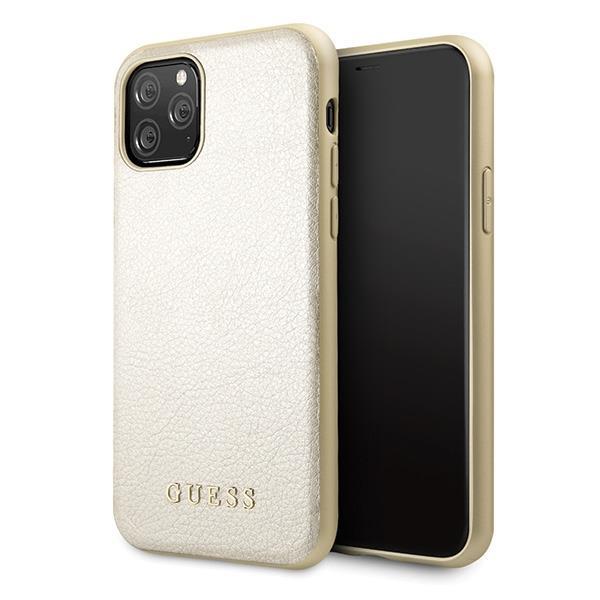 Guess GUHCN58IGLGO iPhone 11 Pro Gold / Gold Hartschalenetui Irisierend