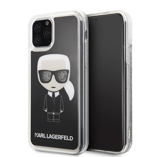Karl Lagerfeld KLHCN58ICGBK iPhone 11 Pro schwarz / schwarz Iconic Glitter