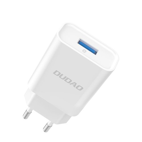 Dudao ładowarka sieciowa EU USB 5V/2.4A QC3.0 Quick Charge 3.0 biały (A3EU white)