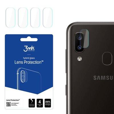3MK FlexibleGlass Lens Samsung A202 A20e Szkło hybrydowe na obiektyw aparatu 4szt